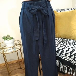 Who What Wear navy culottes